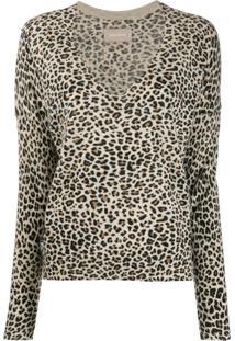 Zadig&Voltaire Brume Leopard Print Pullover - Marrom
