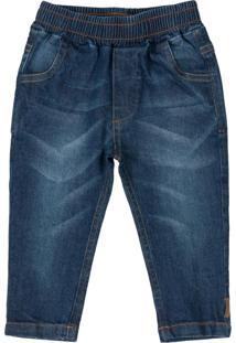 Calça Infantil Em Jeans Azul
