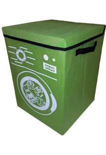 Cesto Para Roupa Suja Lavanderia Organibox Verde - Tricae
