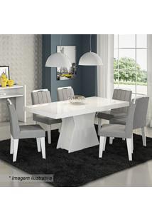 Conjunto De Mesa & Cadeiras Olívia Para 6 Lugares- Branccimol