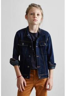 Jaqueta Infantil Jeans Classica Reserva Mini Masculino - Masculino-Azul