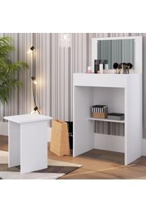 Penteadeira Com Espelho Embutido Cj041 Branco - Art In Móveis