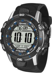 Relógio Masculino X-Games Digital Xmppd457 Bxpx - Unissex-Preto