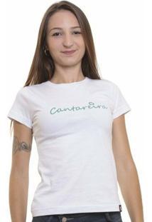 Camiseta Baby Look Oitavo Ato Cantareira Feminina - Feminino-Branco