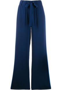 Dvf Diane Von Furstenberg Ellington Crepe De Chine Trousers - Azul