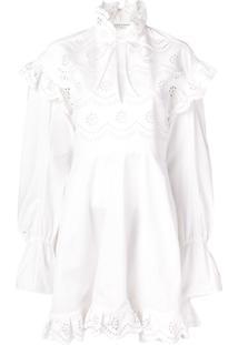 Philosophy Di Lorenzo Serafini Cut-Out Ruffled Dress - Branco