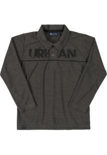 Camisa Infantil Polo Urban Cinza