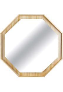 Espelho Valentim Octavado Estrutura Cinamomo Design Industrial E Minimalista