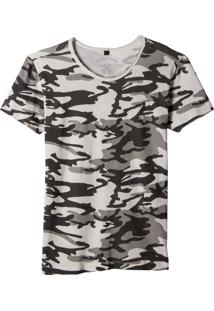 Camiseta John John Cammo Off White Feminina (Off White, G)