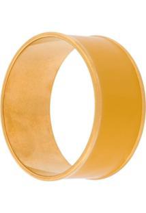 Marni Bracelete Com Acabamentos Em Dourado - Amarelo
