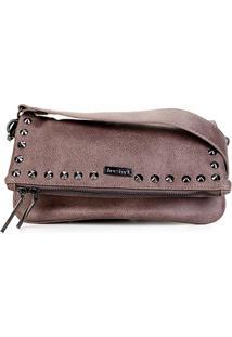 0122c7f7d Bolsa Shoestock Tiracolo Spikes Feminina - Feminino-Cinza