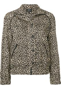 A.P.C. Jaqueta Com Estampa Leopardo - Preto