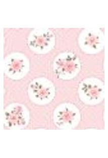 Papel De Parede Autocolante Rolo 0,58 X 3M - Flores Bolinhas 288732800