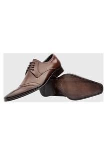 Sapato Social Amarrar Bigioni 350 Couro Mouro