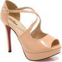 a1676b963e Sapato Peep Toe Zariff Shoes Salto Fino