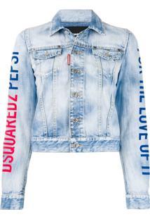Dsquared2 Logo Print Denim Jacket - Azul