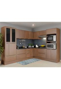 Cozinha Completa Multimã³Veis Com 14 Peã§As Calã¡Bria 5461R Nogueira - Incolor/Marrom - Dafiti