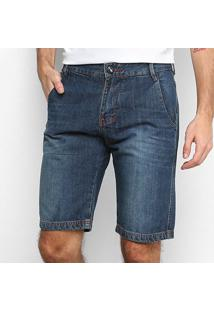 Bermuda Jeans Hd 008 Masculina - Masculino-Azul