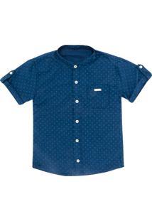 Camisa Look Jeans Gravataria Azul - Azul - Menino - Algodã£O - Dafiti