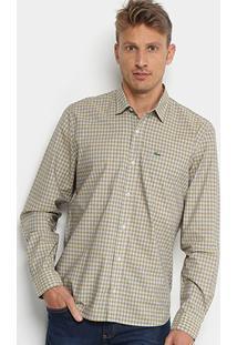 0d4445ed7c20c Camisa Xadrez Lacoste Manga Longa Masculina - Masculino