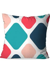 Capa De Almofada Avulsa Decorativa Geométrico Color - Unissex