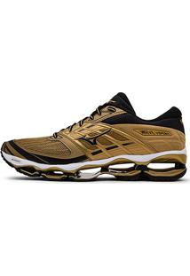 Tênis Mizuno Wave Viper Golden Run Masculino - Masculino-Dourado
