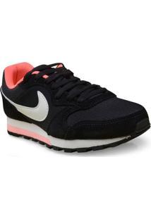 Tenis Fem Nike 749869-004 Md Runner 2 Preto/Branco/Rosa Neon