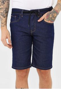 Bermuda Jeans Element Reta Essentials Azul-Marinho