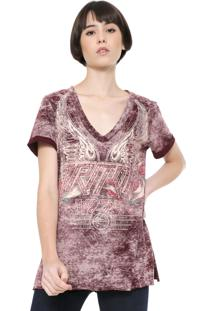 Camiseta Triton Estampada Vinho