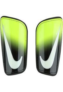 Caneleira De Futebol Nike Mercurial Hard Shell - Adulto - Verde Claro/Preto