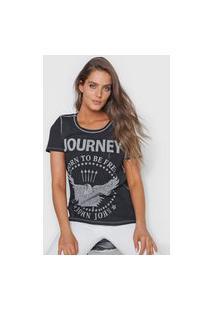 Camiseta John John Journey Preta