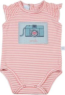 Body Bebê Malha Lelu Maquina Fotografica Smile - Feminino