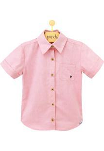 Camisa Infantil Ilhós Rosa