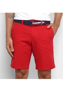 Bermuda Tommy Hilfiger Sarja Masculina - Masculino-Vermelho