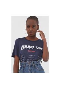 Camiseta Colcci Rebel Tour Azul-Marinho