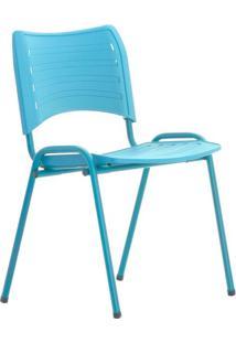 Cadeira De Escritório Interlocutor Evidence Fixa Azul