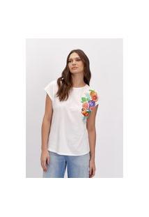 T-Shirt Sem Manga Lança Perfume T-Shirt Branco