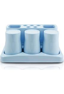 Kit De Banheiro De 5 Peças Jacki Design - Unissex-Azul