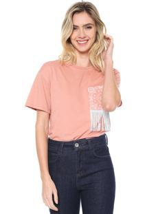 Camiseta Lez A Lez Bordado Rosa