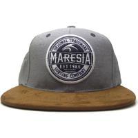 Boné Maresia Aba Reta Cinza Marrom ced34e64990