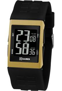 Relógio Digital Quartz Xgppd119Pxpx- Preto & Douradoorient