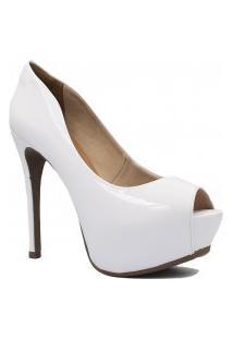 Sapato Zariff Shoes Meia Pata Peep Toe