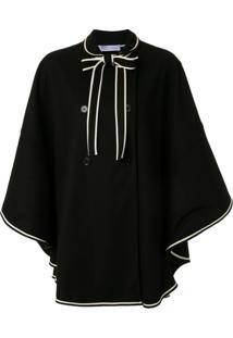 Redvalentino Scalop Wool Cloth Cape - Rvo.0No