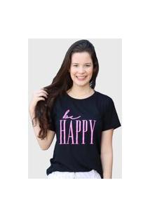 Camiseta Happy Preta D Bell