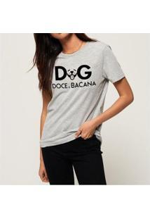 Camiseta Doce E Bacana Buddies Feminina - Feminino-Mescla