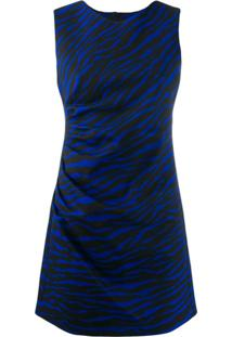 P.A.R.O.S.H. Vestido Com Detalhe Drapeado - Azul