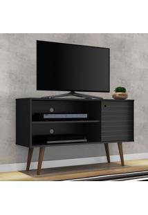 Rack Para Tv Até 42 Polegadas 1 Porta 1 Prateleira Jade 2074998 Preto Fosco - Bechara Móveis