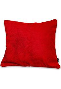 Capa Para Almofada Em Jacquard Berta 50X50Cm Vermelha