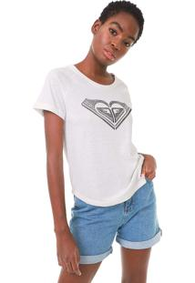 Camiseta Roxy Vintage Handmade Off-White - Off White - Feminino - Dafiti