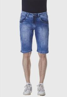 Bermuda Jeans Hno Jeans Masculina - Masculino-Azul